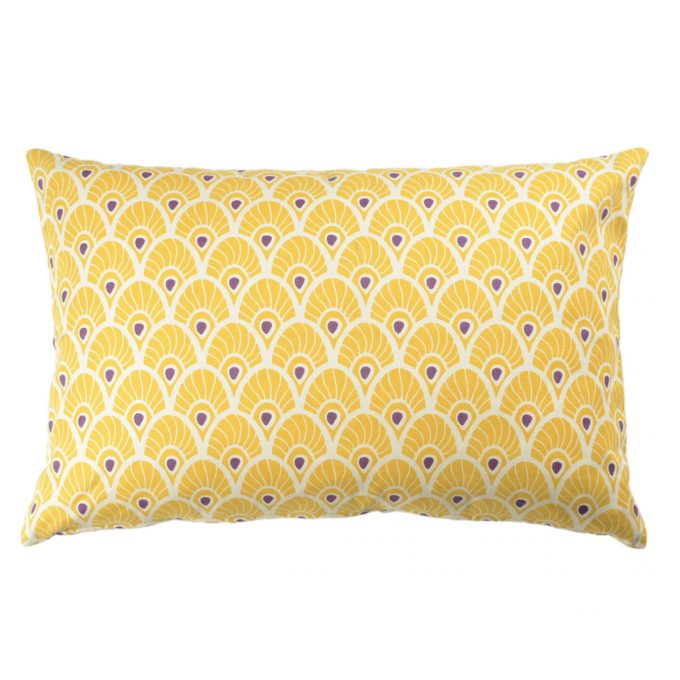 Tallentire House Cushion 60x40 Feather Oil Yellow
