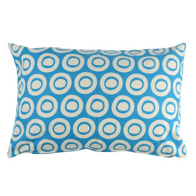 Tallentire House Cushion 60x40 Plain Circle Blue