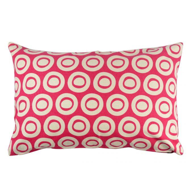 Tallentire House Cushion 60x40 Plain Circle Bright Rose