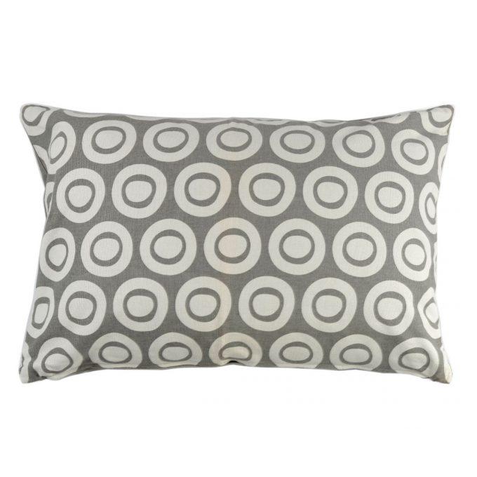 Tallentire House Cushion 60x40 Plain Circle Wild Dove
