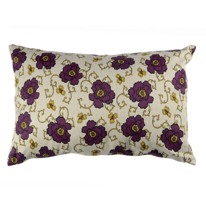Tallentire House Cushion 60x40 Russian Flower Grape Wine Oil Yellow