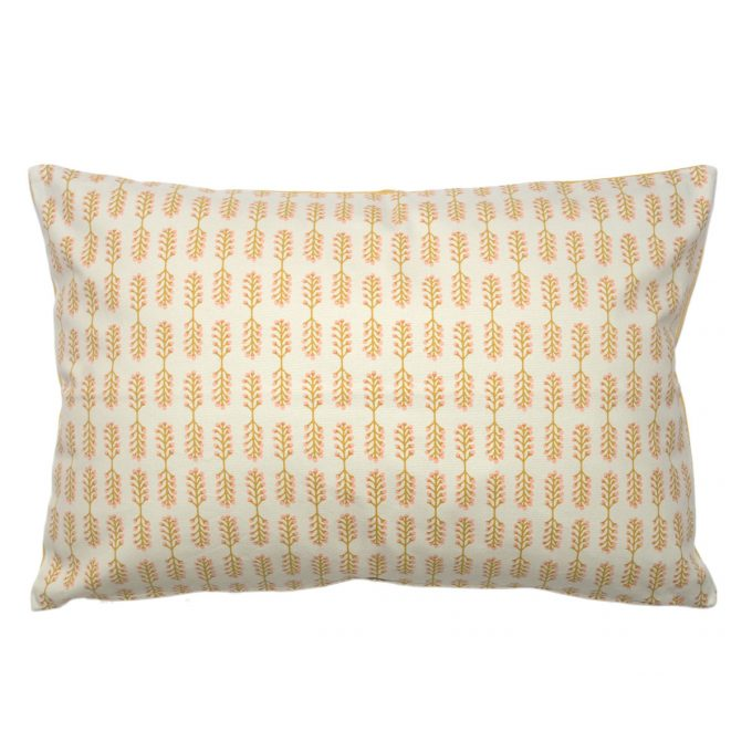 Tallentire House Cushion 60x40 Small Stem Oil Yellow Cameo Rose