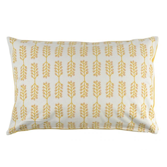 Tallentire House Cushion 60x40 Stem Cameo Rose Oil Yellow