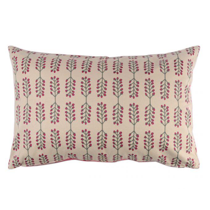 Tallentire House Cushion 60x40 Stem Fuchsia Red