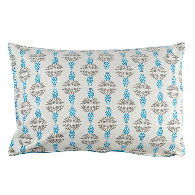 Tallentire House Cushion 60x40 Vine Blue