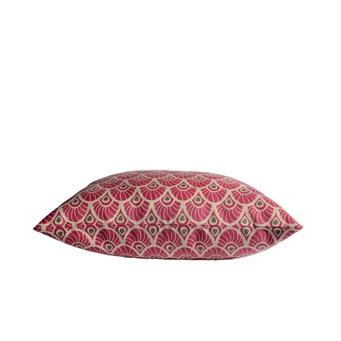 Tallentire House Cushion Feather Fuchsia Red Side