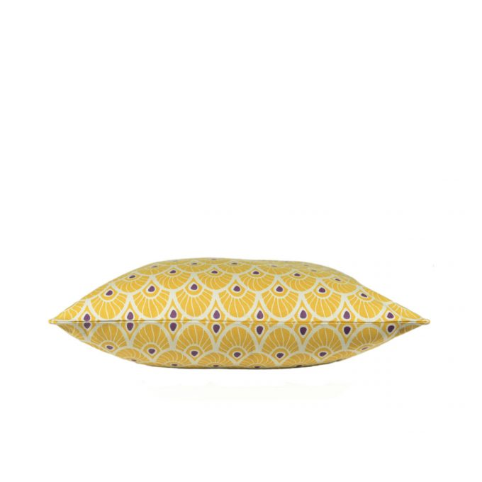 Tallentire House Cushion Feather Oil Yellow Side
