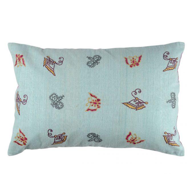 Tallentire House Cushion Silk Ahir Small Butterfly Light Blue