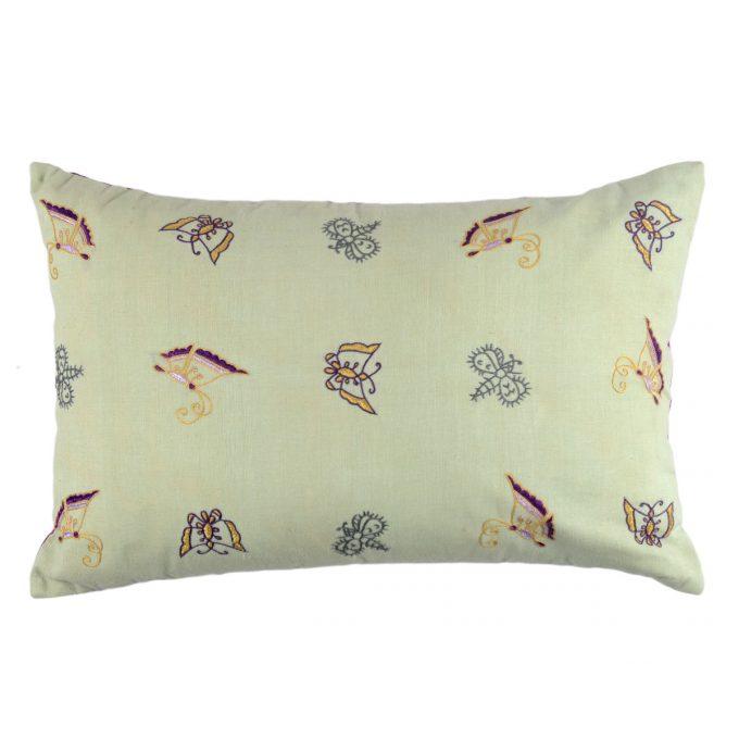 Tallentire House Cushion Silk Ahir Small Butterfly Light Green