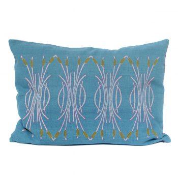 Tallentire House Cushion Silk Bulrush Blue