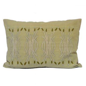 Tallentire House Cushion Silk Bulrush Pale Green