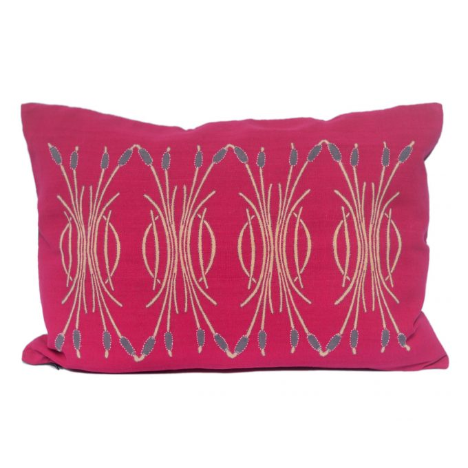 Tallentire House Cushion Silk Bulrush Pink 2
