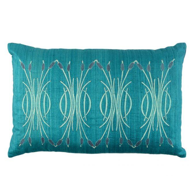 Tallentire House Cushion Silk Bulrush Teal
