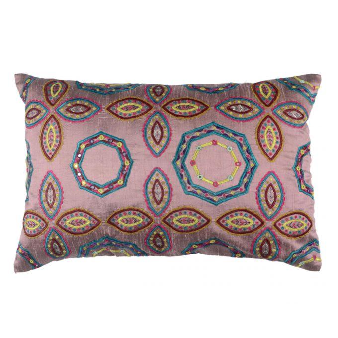 Tallentire House Cushion Silk Gypsy Octagon Lilac