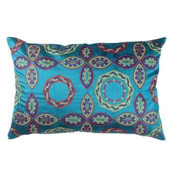 Tallentire House Cushion Silk Gypsy Octagon Turquoise