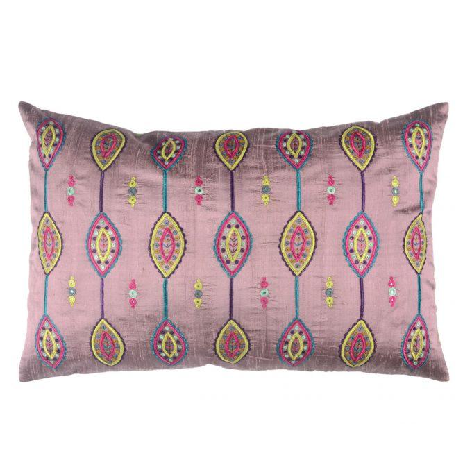 Tallentire House Cushion Silk Gypsy Shield Lilac