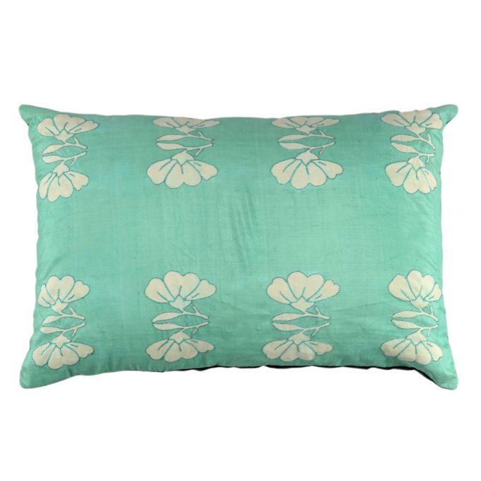 Tallentire House Cushion Silk Lotus Pale Green