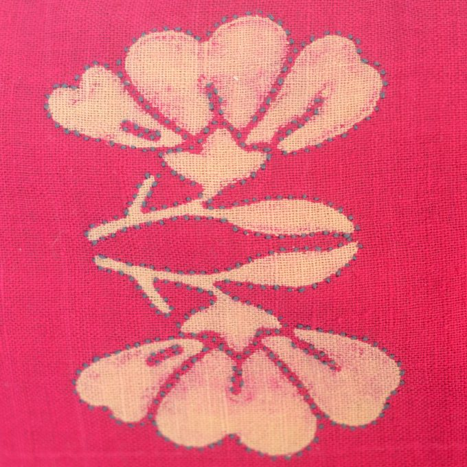 Tallentire House Cushion Silk Lotus Pink Detail