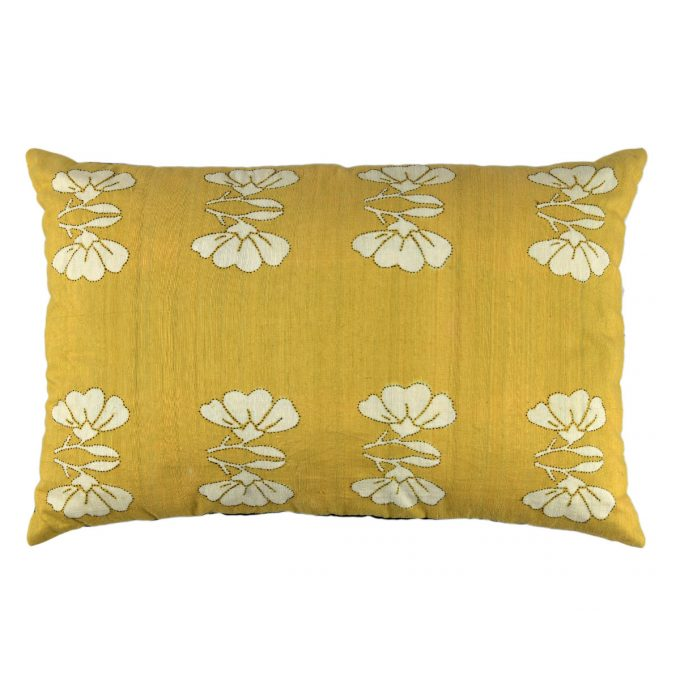 Tallentire House Cushion Silk Lotus Yellow