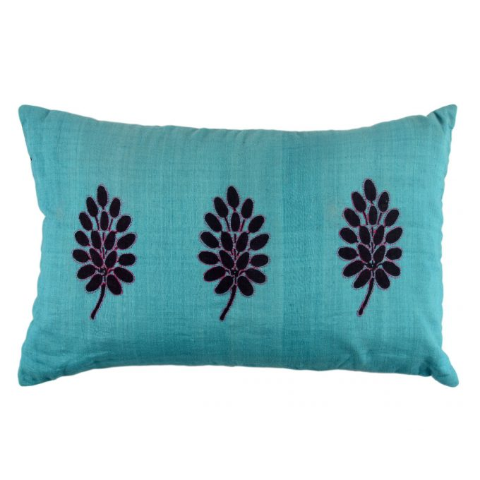 Tallentire House Cushion Silk Tree Teal