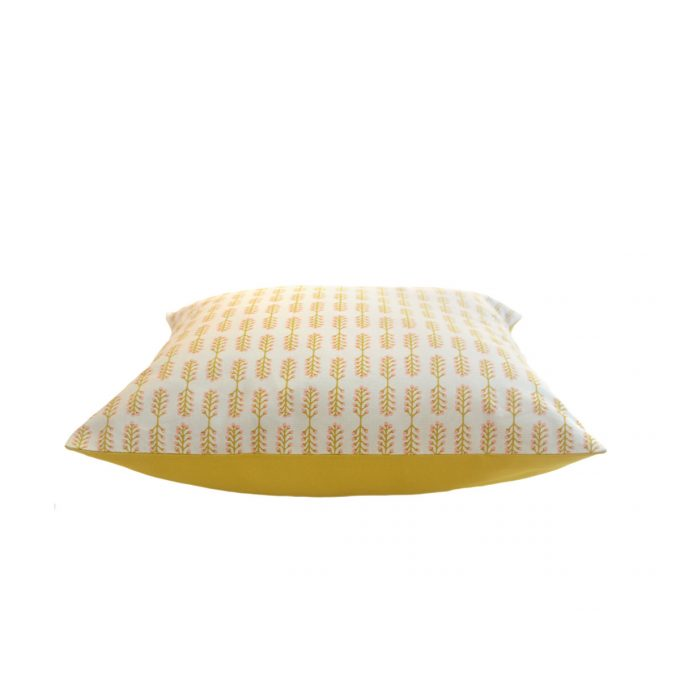 Tallentire House Cushion Small Stem Oil Yellow Cameo Rose Side