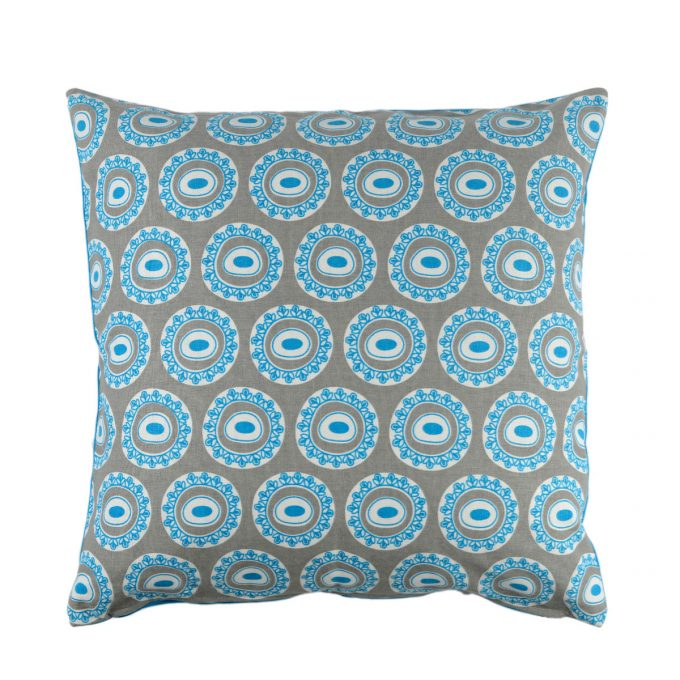 Tallentire House Cushion Square Byzantine Circle Blue
