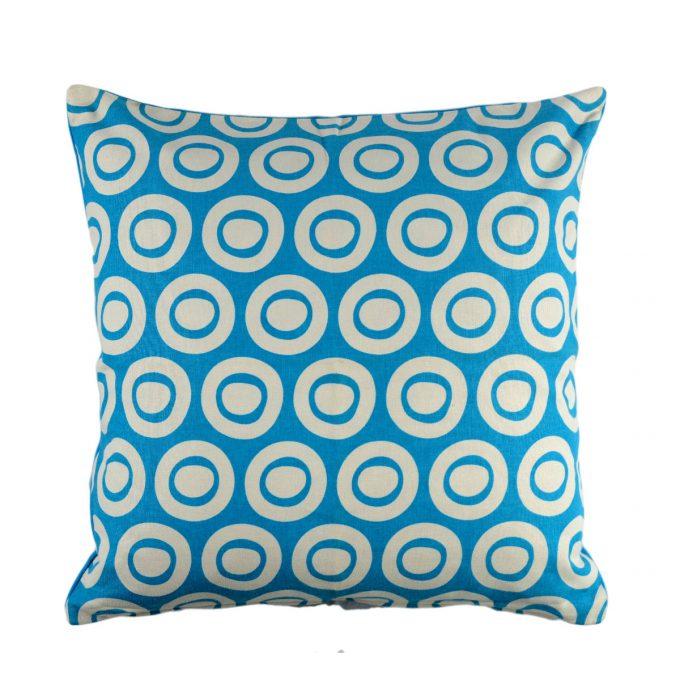 Tallentire House Cushion Square Plain Circle Blue