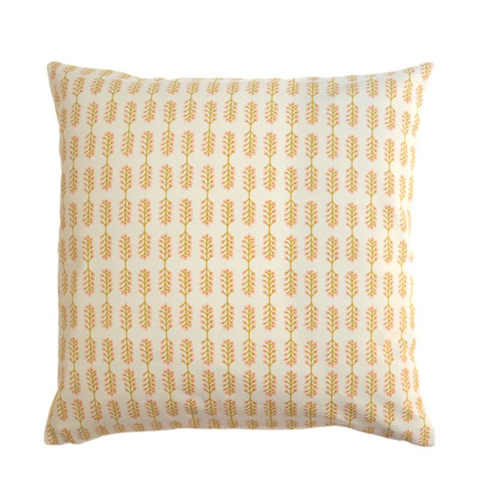 Tallentire House Cushion Square Small Stem Oil Yellow Cameo Rose