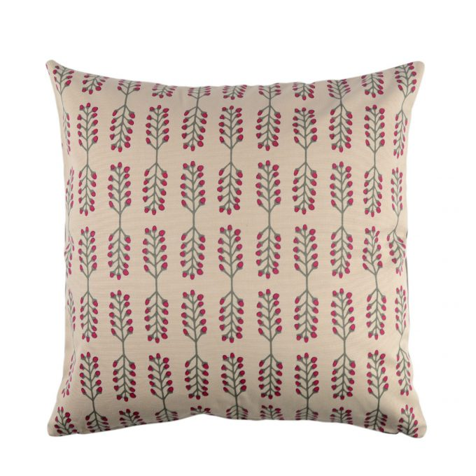 Tallentire House Cushion Square Stem Fuchsia Red