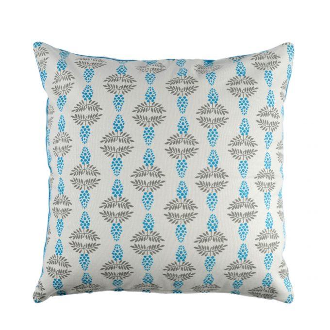 Tallentire House Cushion Square Vine Blue
