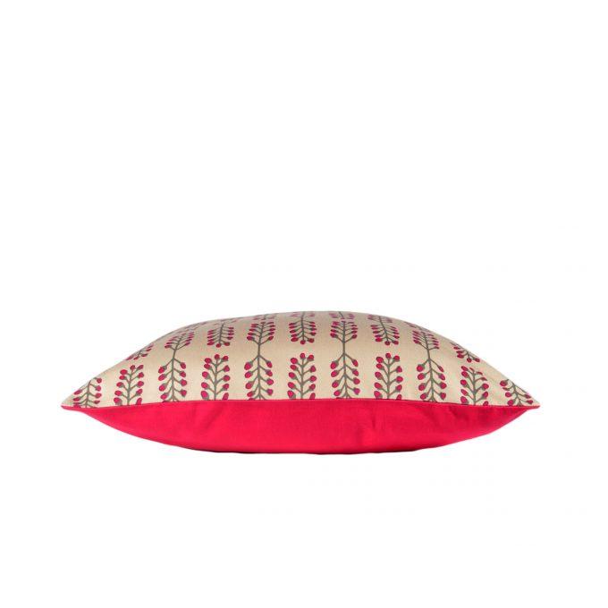 Tallentire House Cushion Stem Fuchsia Red Side