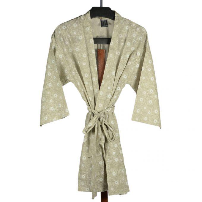 Tallentire House Dressing Gown Korean Flower Sea Green Chalk