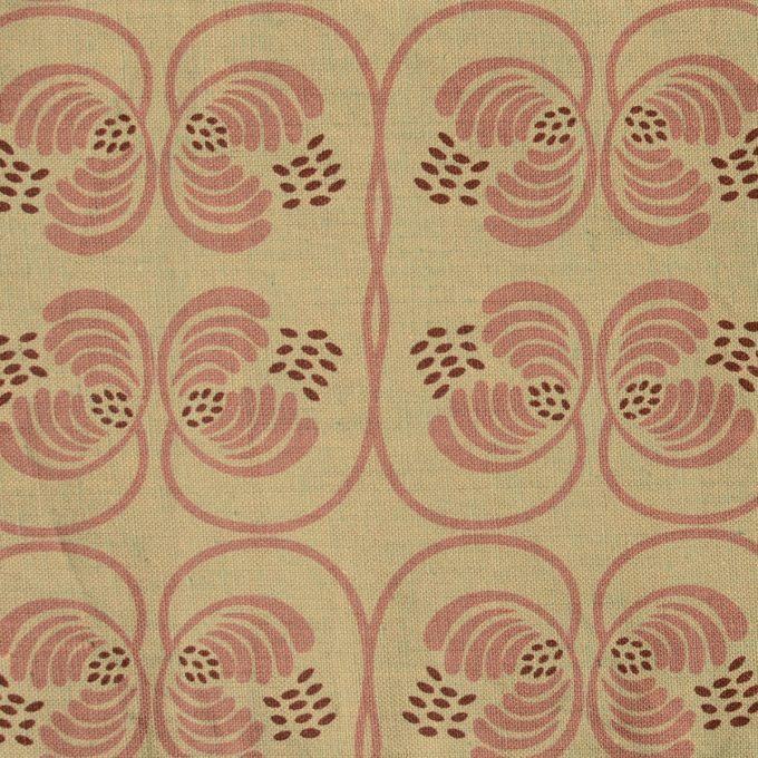 Tallentire House Fabrics Cotton Flax Wisteria Blue Surf Mauve