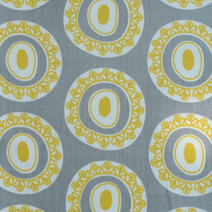 Tallentire House Fabrics Q1 Byzantine Circle Wild Dove Celery