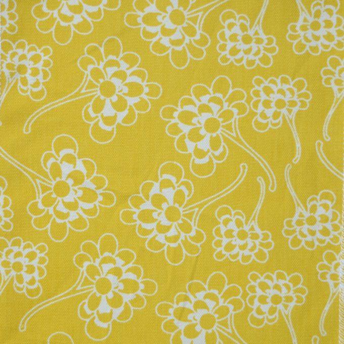Tallentire House Fabrics Q1 Chinese Flower Celery Inverse