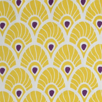Tallentire House Fabrics Q1 Feather Oil Yellow