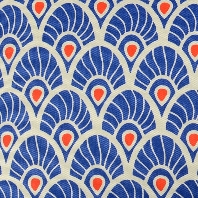 Tallentire House Fabrics Q1 Feather Surf the Web Tiger Lilly