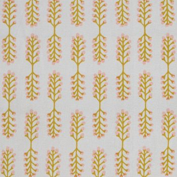 Tallentire House Fabrics Q1 Small Stem Oil Yellow Cameo Rose