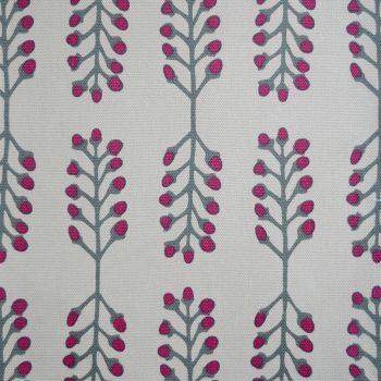 Tallentire House Fabrics Q1 Stem Fuchsia Red