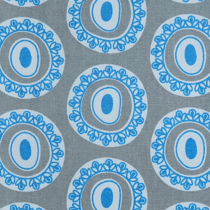 Tallentire House Fabrics Q2 Byzantine Circle Blue