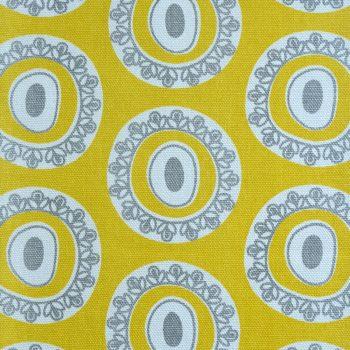 Tallentire House Fabrics Q2 Byzantine Circle Celery Wild Dove