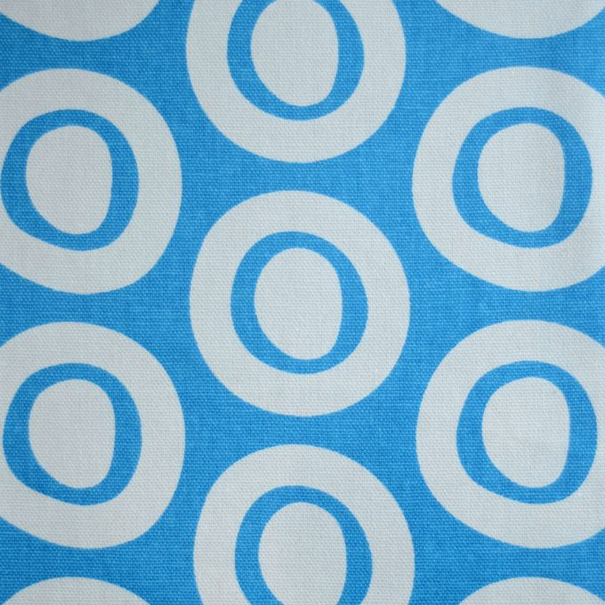 Tallentire House Fabrics Q2 Plain Circle Blue