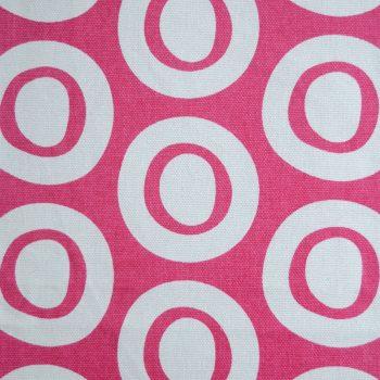 Tallentire House Fabrics Q2 Plain Circle Bright Rose