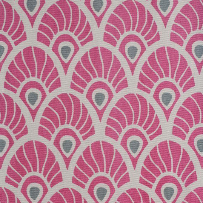 Tallentire House Fabrics Twill Feather Fuchsia Red