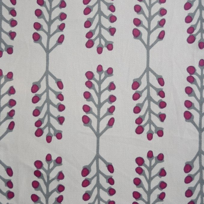 Tallentire House Fabrics Twill Stem Fuchsia Red