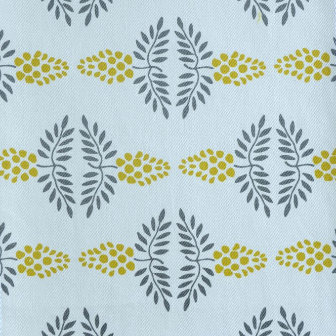 Tallentire House Fabrics Twill Vine Citronella
