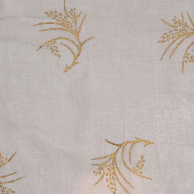 Tallentire House Fabrics Voile Corn Dusty Pink Gold