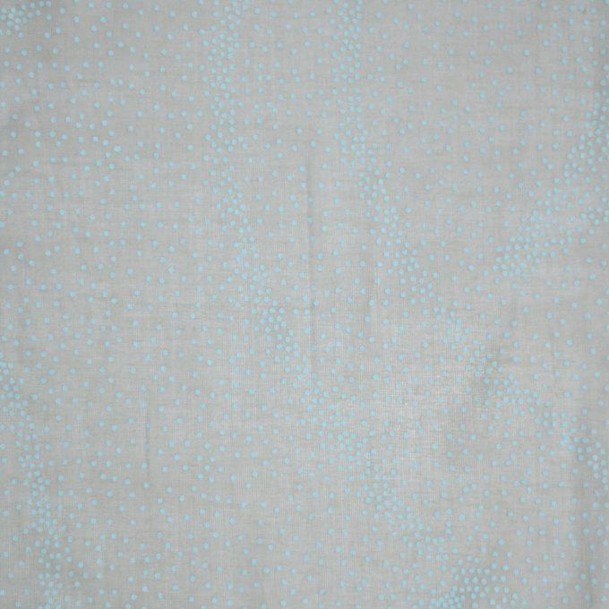 Tallentire House Fabrics Voile Dots Sea Green Chalk Blue