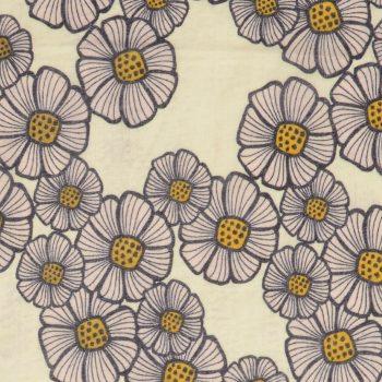 Tallentire House Fabrics Voile Kapila Daisy Moon Beam Purple