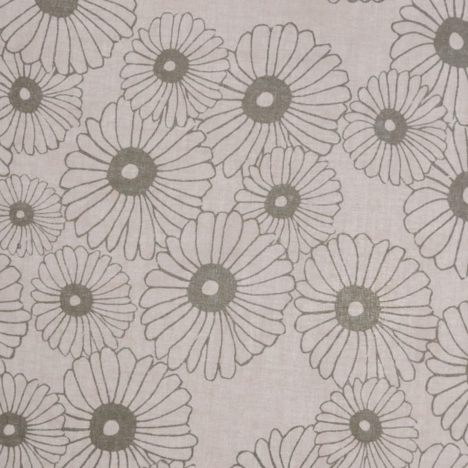 Tallentire House Fabrics Voile Korean Flower Dusty Pink Shitake